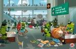 Burger King Veg City Ad: Airport Terminal